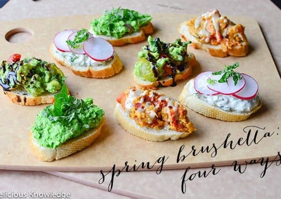 Spring Bruschetta: four recipes that elevate basic crostini {vegan}