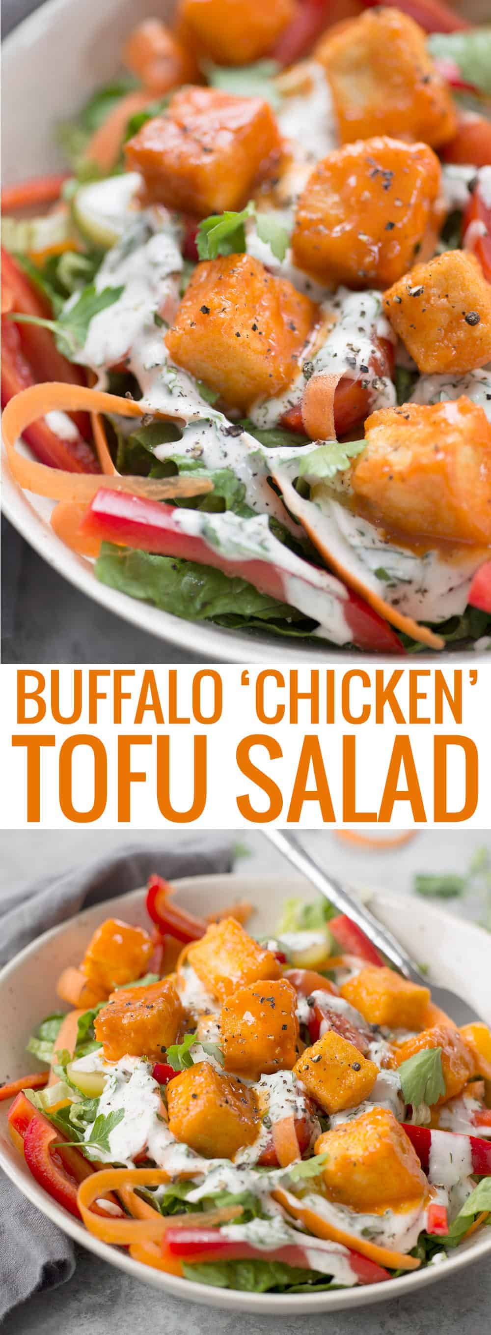 buffalo chicken tofu salad