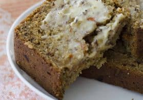 Vegan Carrot Cake Banana Bread