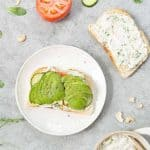 open face dairy-free sandwich