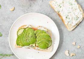 Cashew Cheese Veggie Sandwich