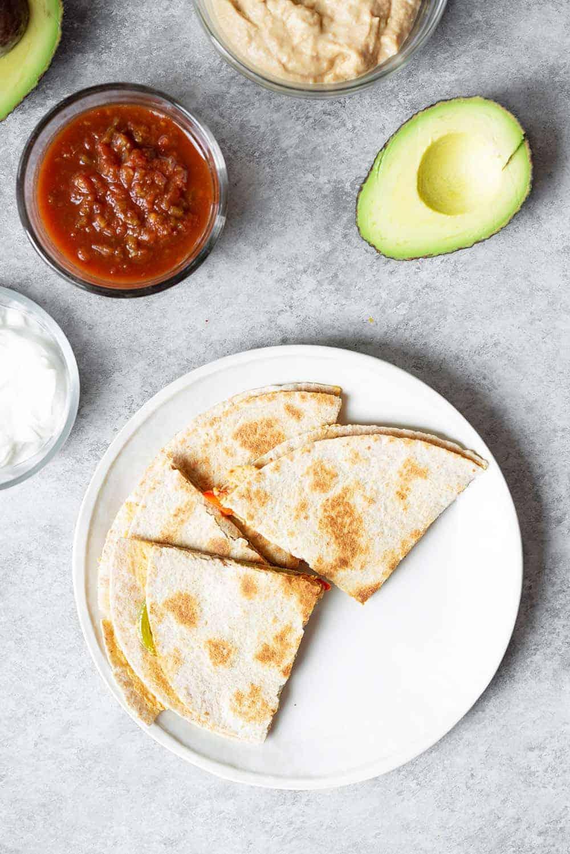 cheesy vegan quesadilla