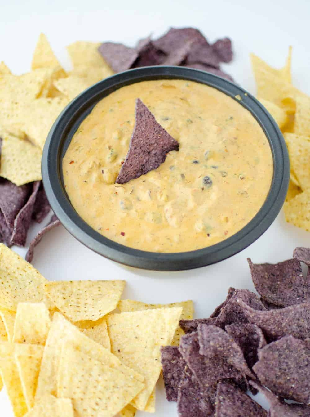 OMG. The BEST chili cheese dip that just happens to be gluten-free and vegan! A must make for football games!