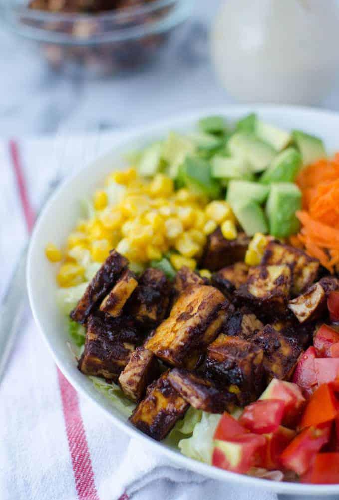 Copycat Cpk Chopped Bbq Tofu Salad Delish Knowledge