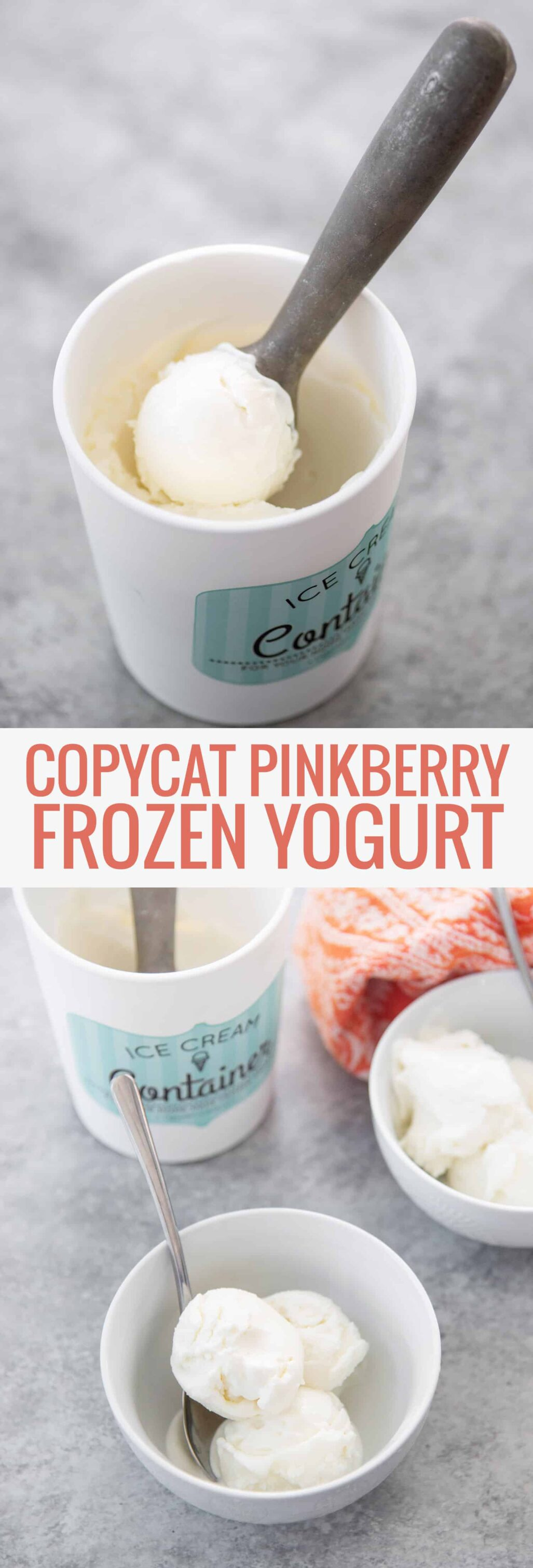 Copycat Pinkberry Frozen Yogurt! If you love tart frozen yogurt, you will love this recipe! Just three ingredients! Enjoy as is or topped with fresh fruit. | www.delishknowledge.com