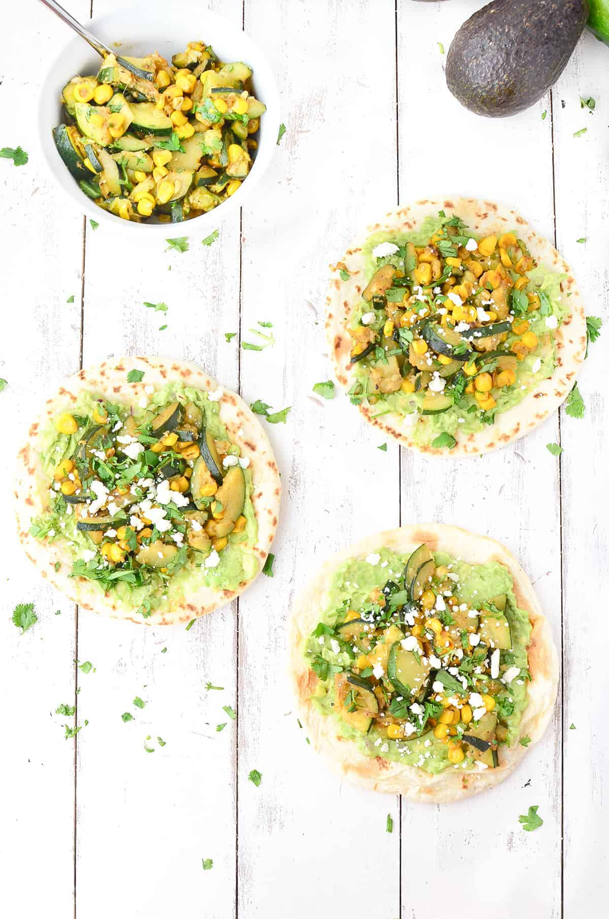 Zucchini and Corn Tacos! These vegetarian tacos are so healthy and filling! You've gotta try them. Vegetarian Mexican Food that's ready in less than 30 minutes! | www.delishknowledge.com
