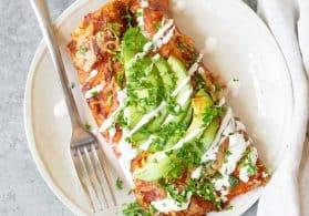 Vegetarian Zucchini Enchiladas