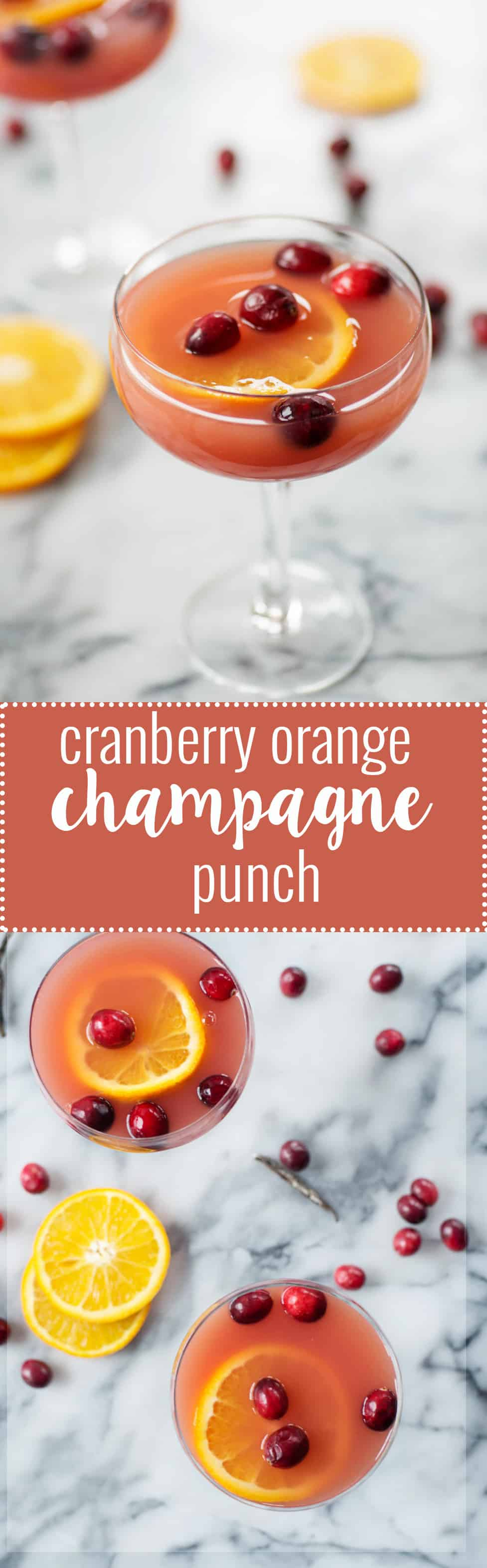 Cranberry Orange Champagne Punch! The gorgeous punch is a must for your holiday table. Refreshing, sparkling and festive! | www.delishknowledge.com