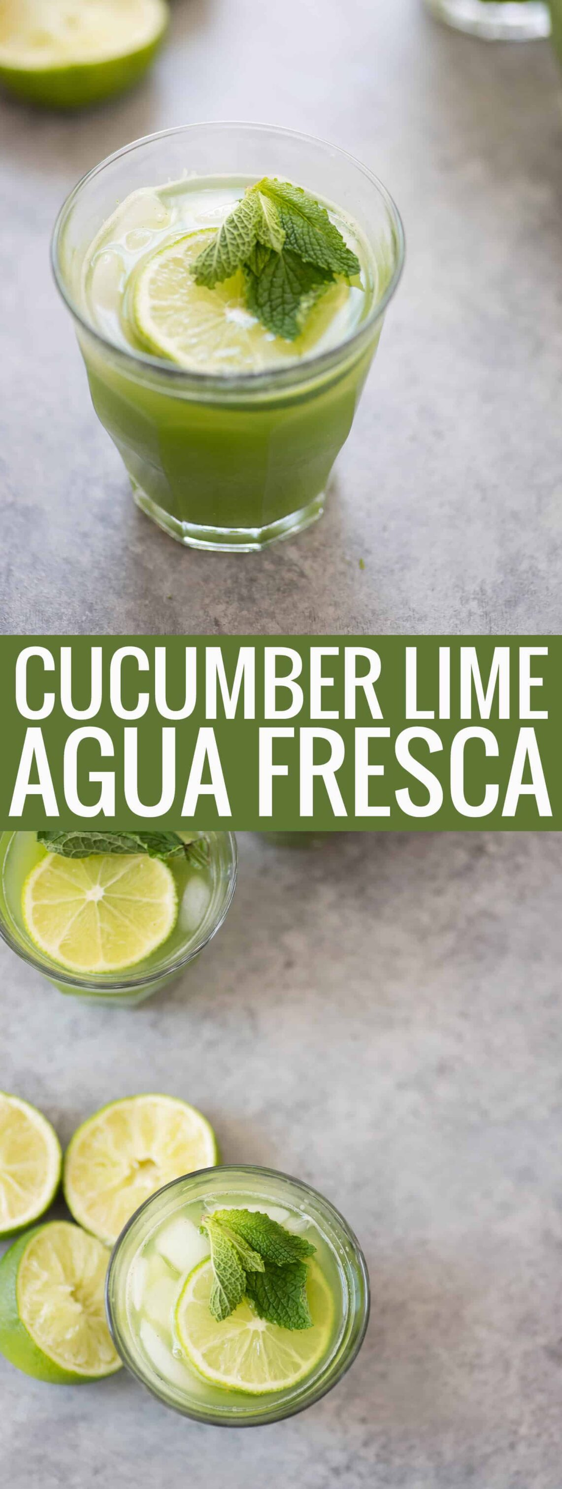 Cucumber Mint Lime Agua Fresca - Delish Knowledge