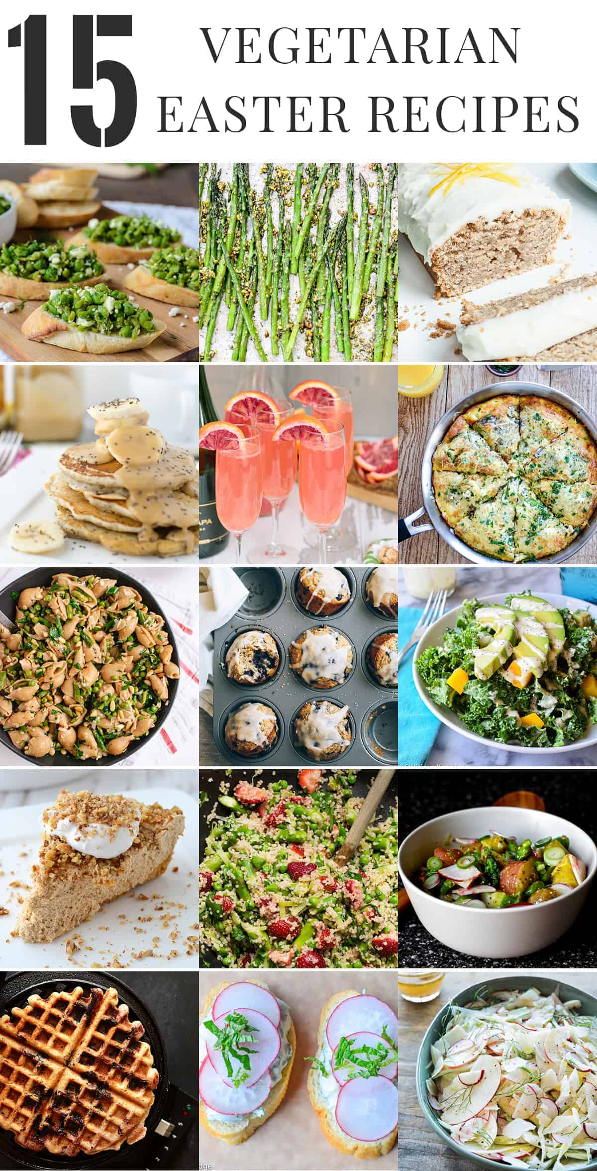 Healthy vegetarian easter recipes delish knowledge easter roundup 15 healthy vegetarian recipes perfect for your easter gathering brunch forumfinder Choice Image