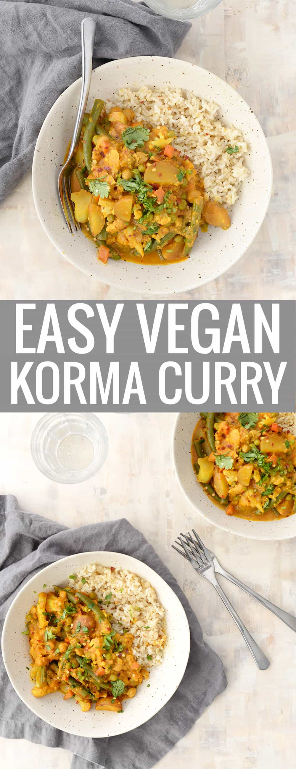 easy vegan korma