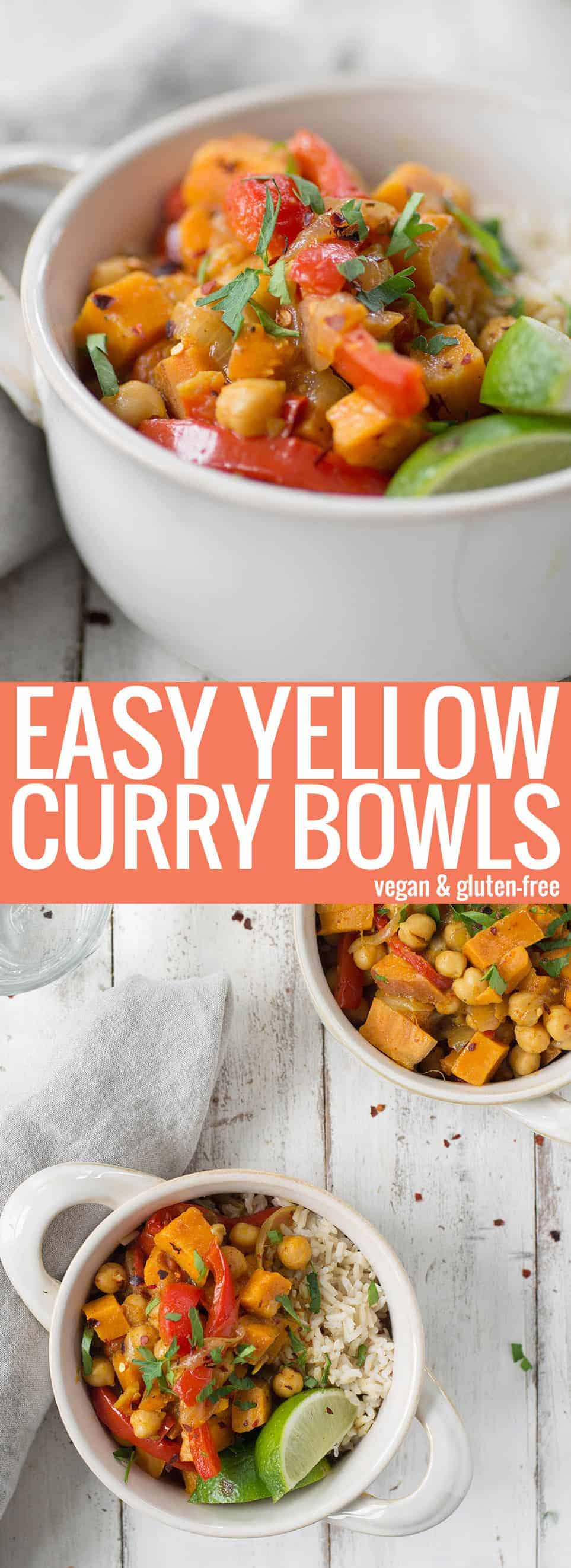 vegan yellow curry bowls