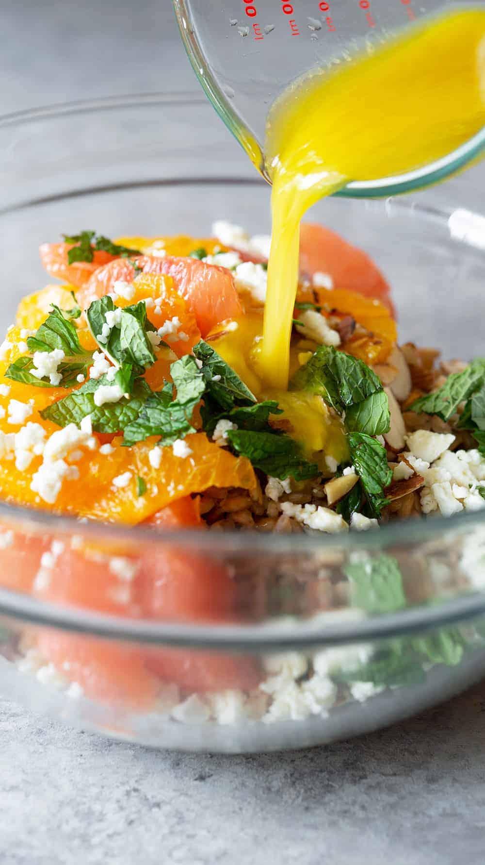 Farro, Citrus and Mint Salad