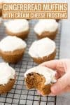 gingerbread muffins with cream cheese frosting