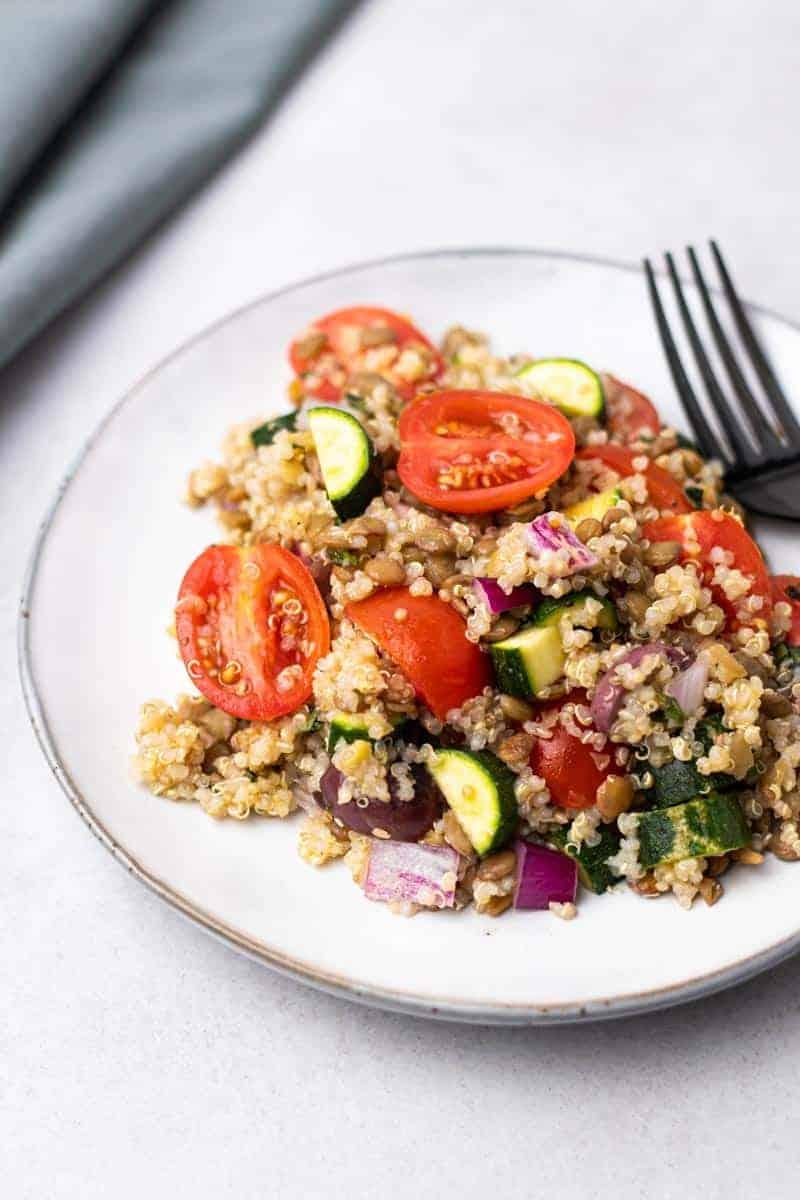 greek lentil salad featured image