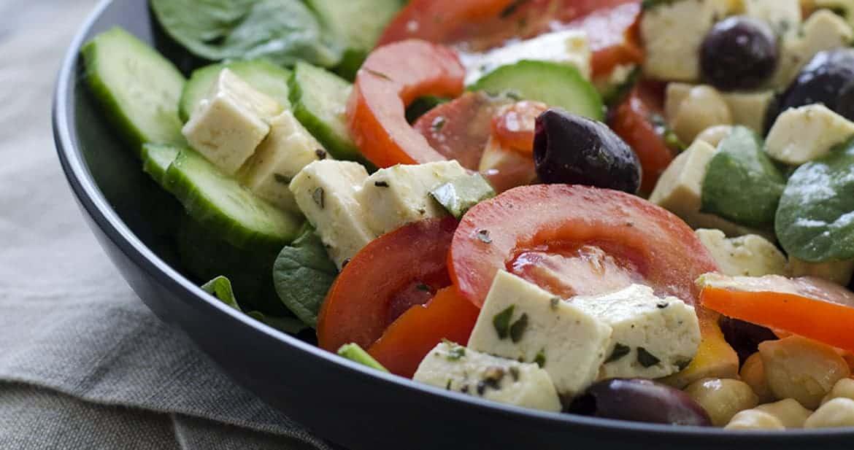 Vegan Greek Salad With Tofu Feta Delish Knowledge