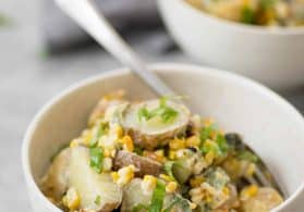 Grilled Corn, Poblano and Potato Salad