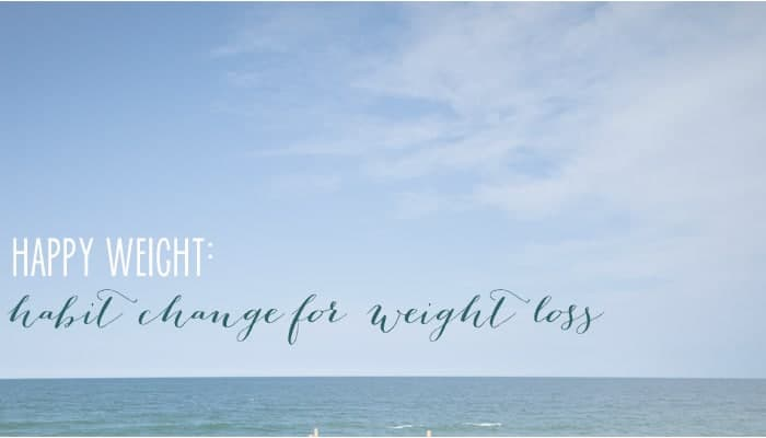 Changing habits for weight loss! Change your habits... change your life!