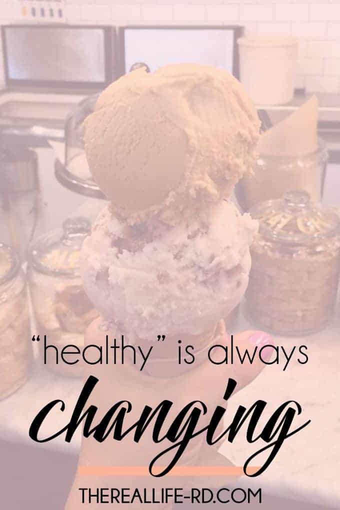 Healthy is always changing!