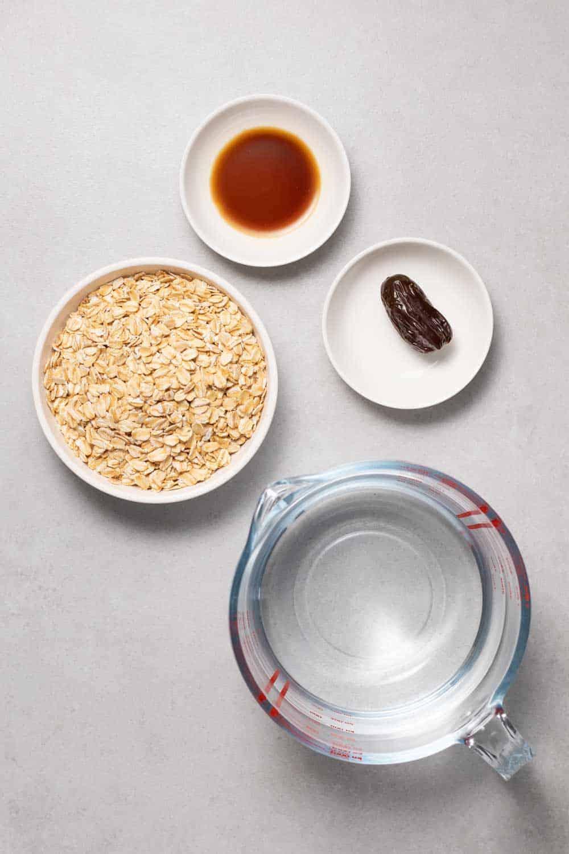 oat milk recipe ingredients