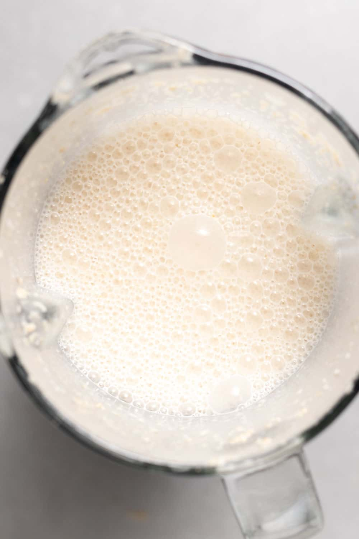 oat milk ingredients blended