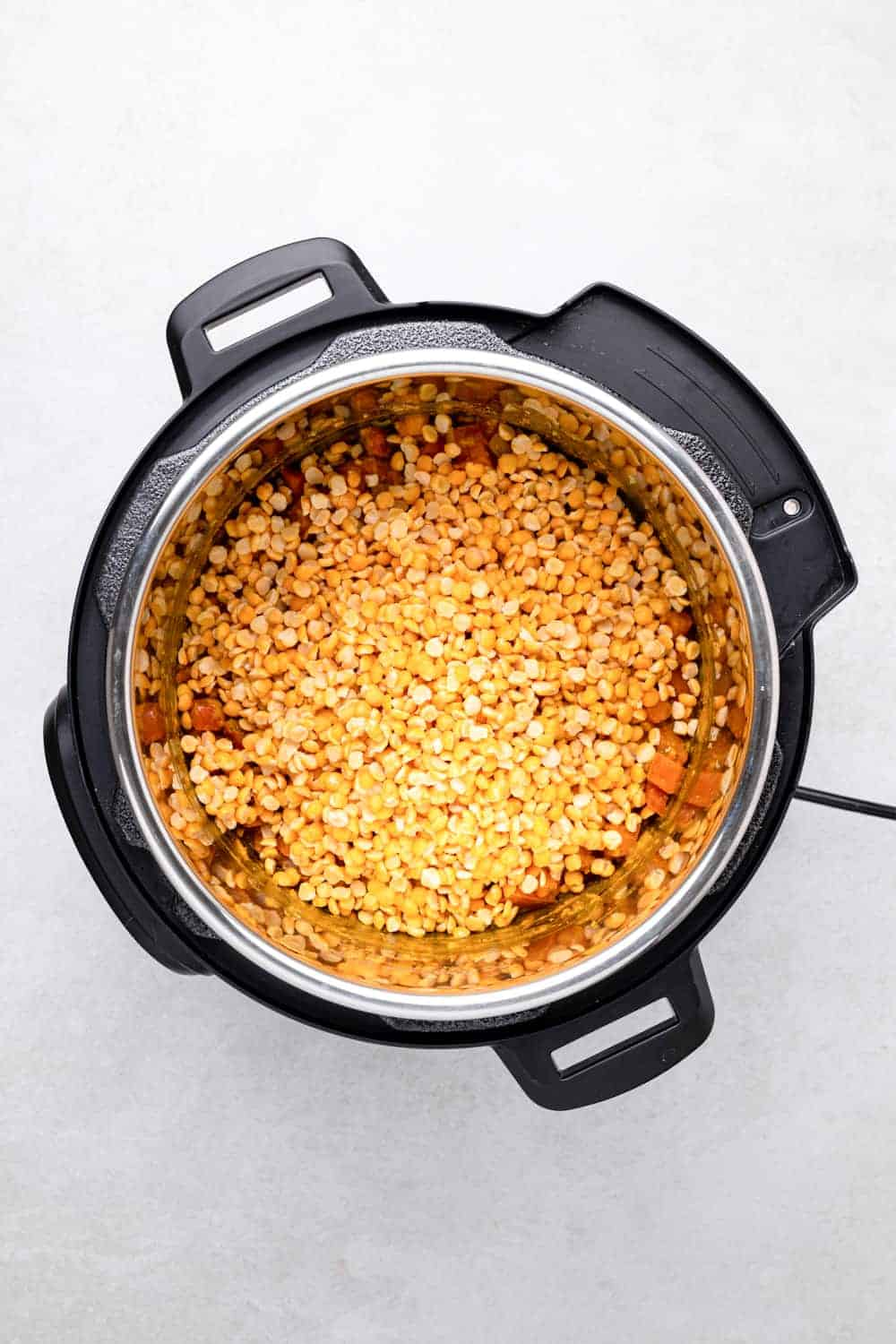 split yellow pigeon peas added to Instant Pot