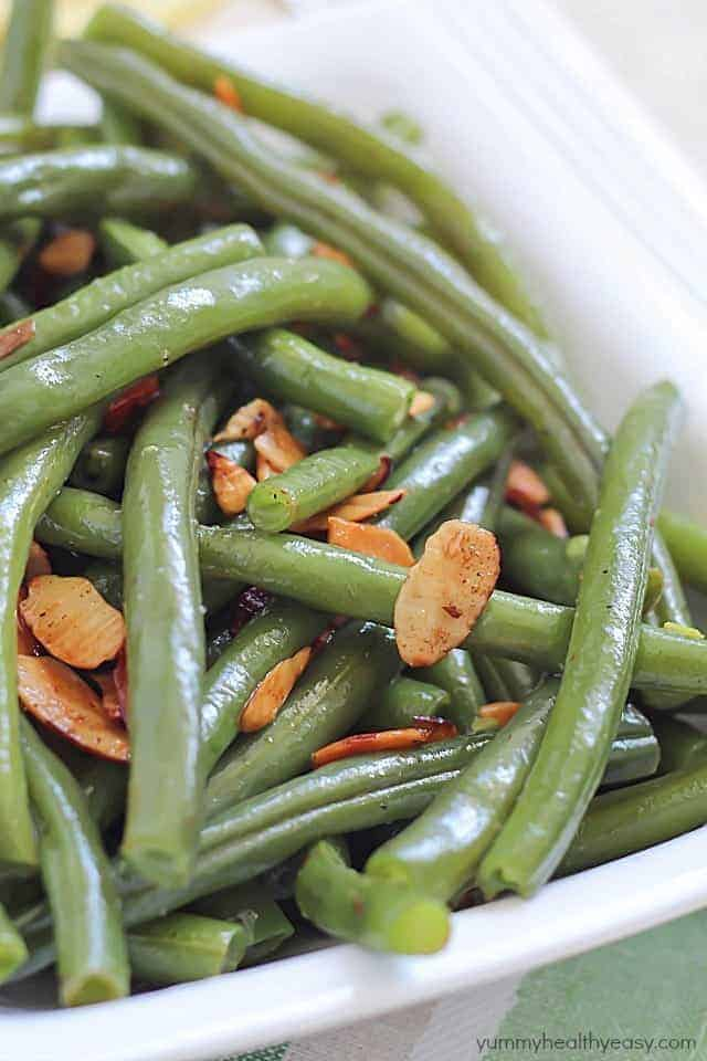 Lemon Green Beans Amandine
