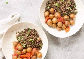 Potato, Harissa and Lentil Buddha Bowl