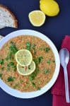 Lentil Lemon Soup! THE best soup- and made for just pennies! Red lentils, vegetables, and fresh lemon juice! Gluten-Free & Vegan | www.delishknowledge.com
