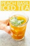 how to make peach iced tea