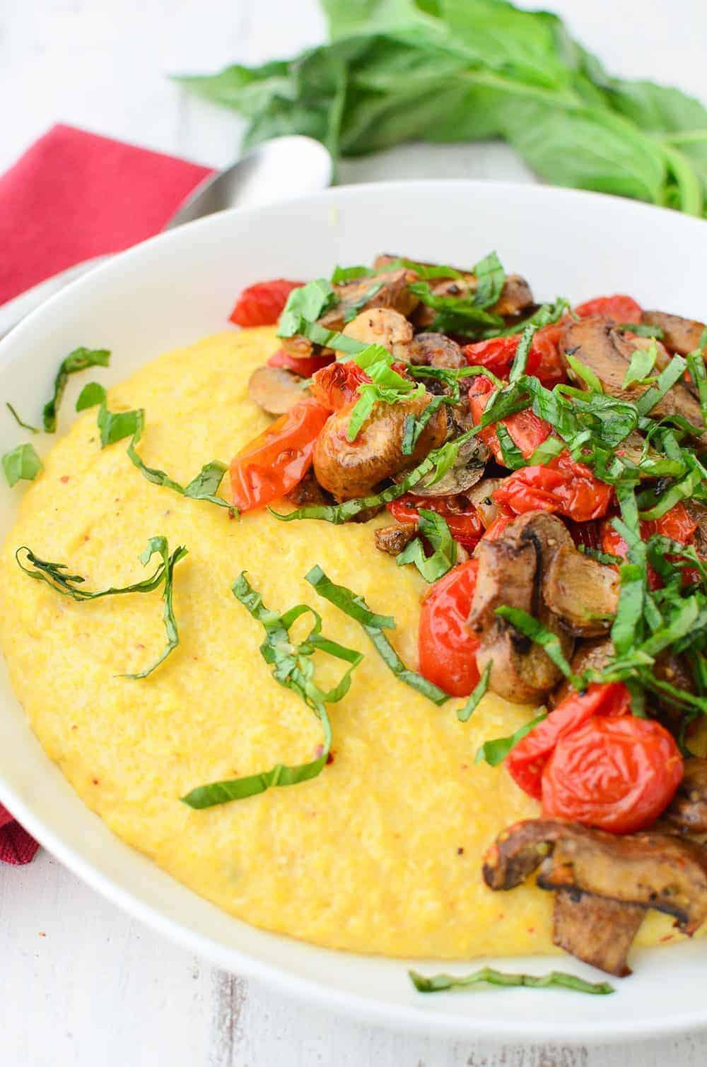 Vegan Polenta Bowl - Delicious Knowledge