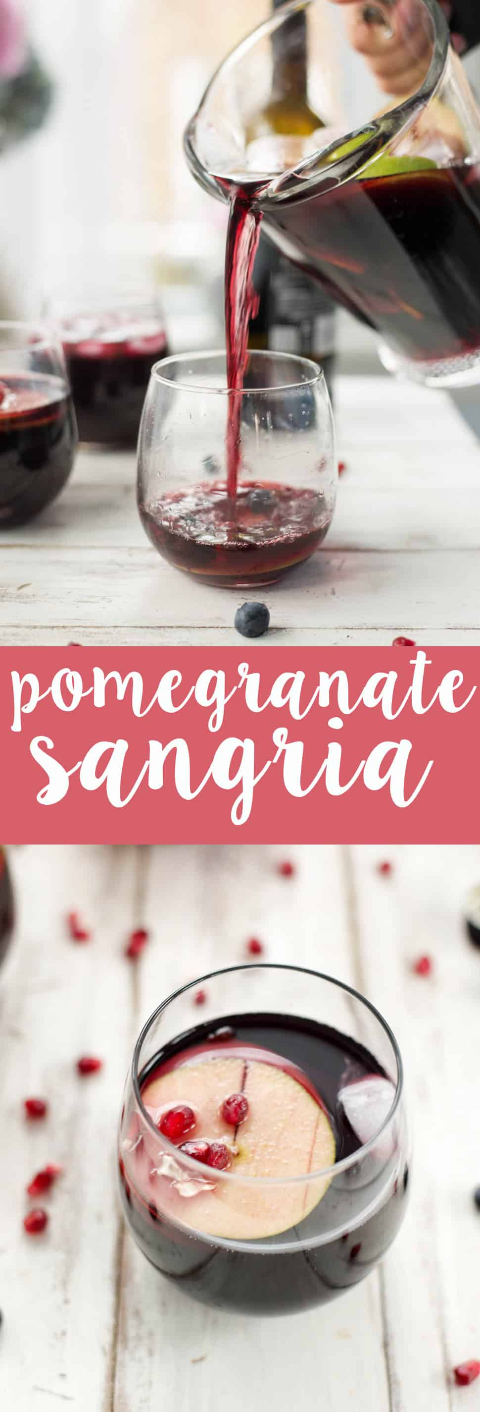 Pomegranate Sangria! A winterized take on the classic summer staple; perfect for entertaining and low in sugar. | www.delishknowledge.com