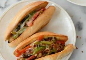 Portobello Cheesesteak Sandwiches
