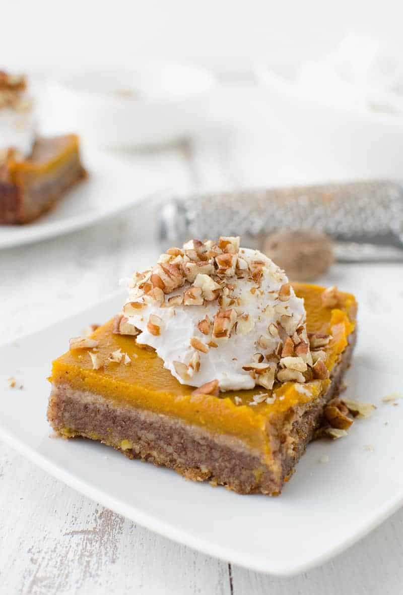 Vegan & Gluten-Free Pumpkin Pie Pecan Bars!