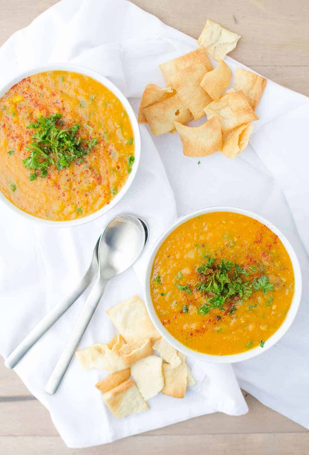 Red Lentil And Vegetable Soup With Chive Yogurt Recipes ...