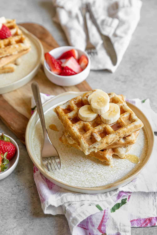 sourdough vegan waffles