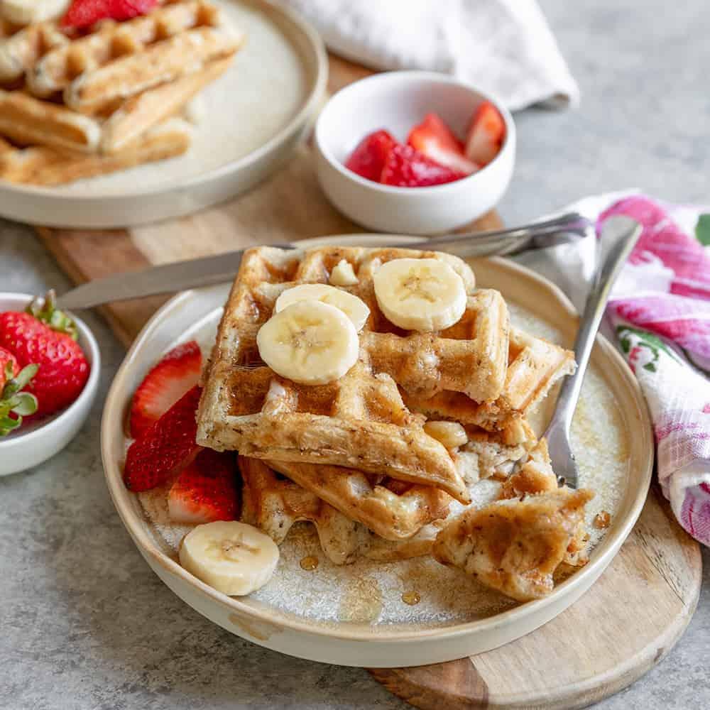 vegan sourdough waffles