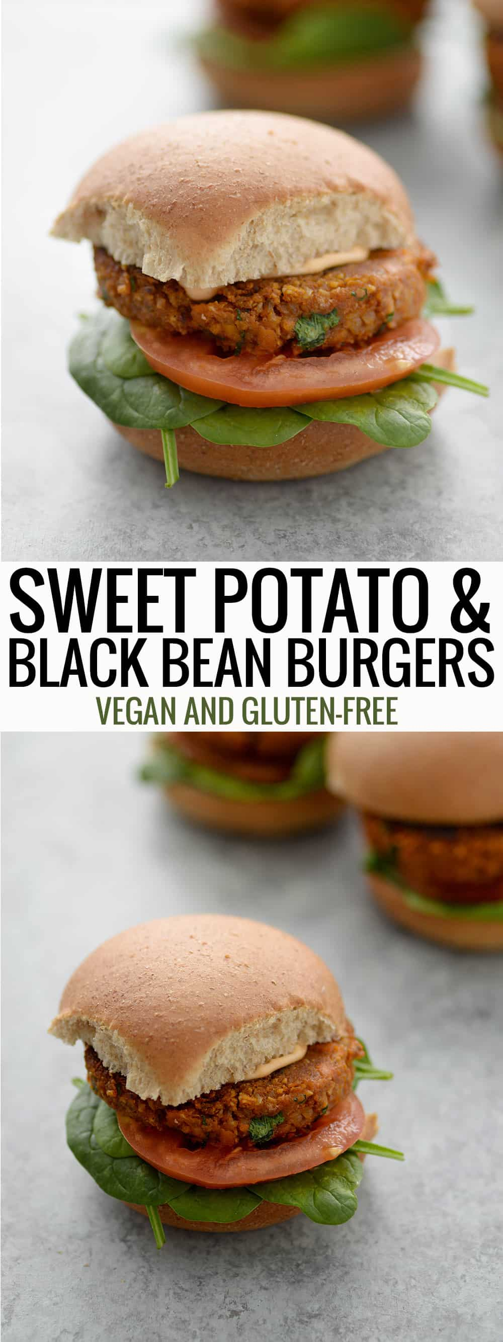 text sweet potato black bean burger
