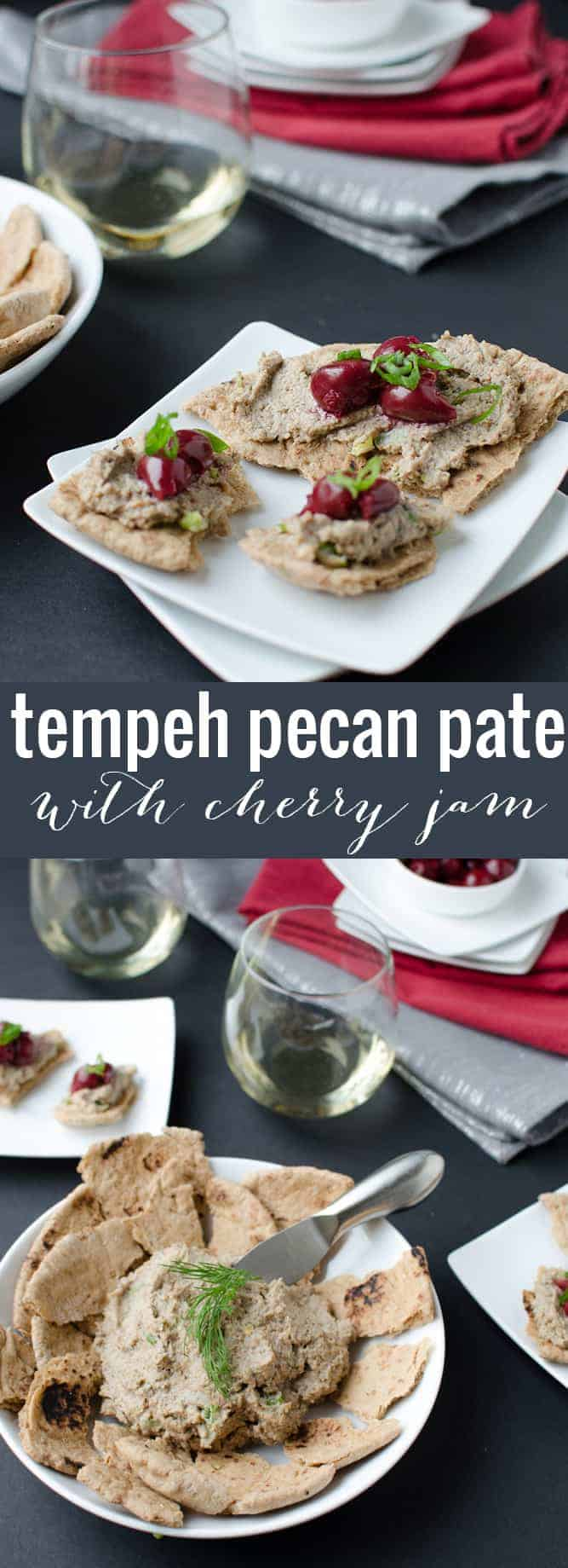 Tempeh Pecan Pate! An amazing appetizer to satisfy everyone!Save this one to make over the holiday season or for happy hour at home! #vegan #vegetarian #appetizer #party #holiday | www.delishknowledge.com