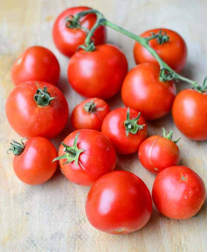Fresh tomato sauce, to be used in pasta or in risotto. A healthy, fresh sauce that tastes SO much better than the jarred stuff!