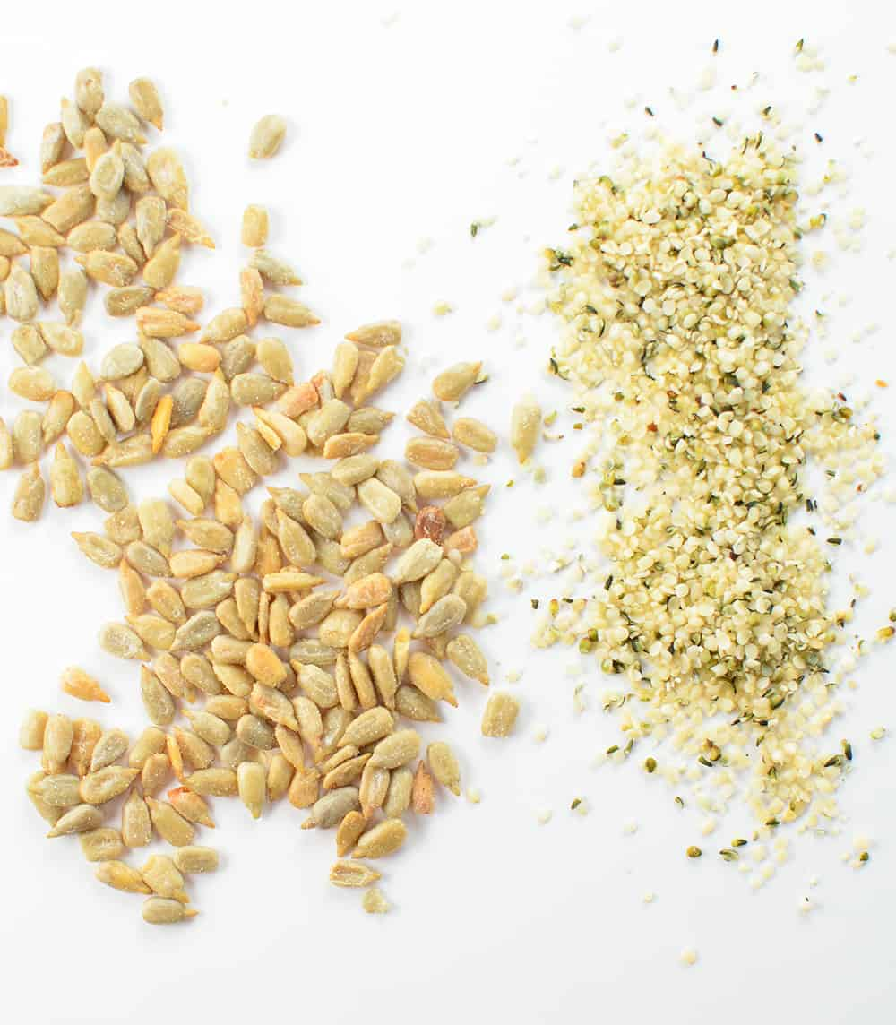 Hemp hearts and sunflower seeds give this recipe some texture as well as protein