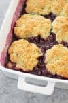 fresh cherry cobbler with vegan cobbler biscuits