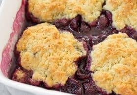 Vegan Cherry Cobbler