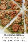 graphic for pesto pizza