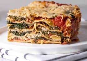 Vegan Spinach Lasagna with Cashew Ricotta