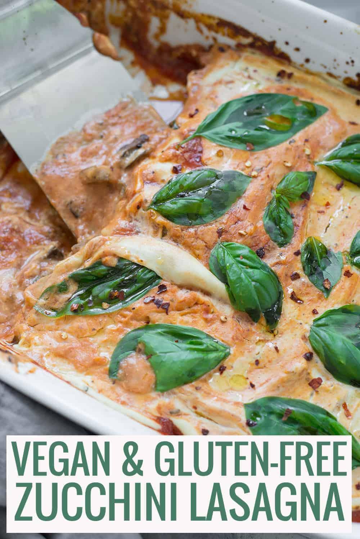 vegan glutenfree pan of lasagna