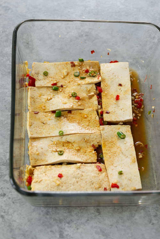 lemongrass tofu for vegan banh mi