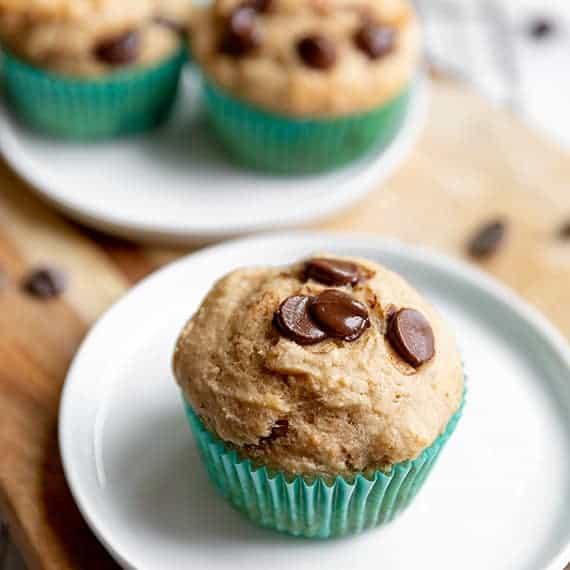 Muffins de Chocolate com Banana Saudável