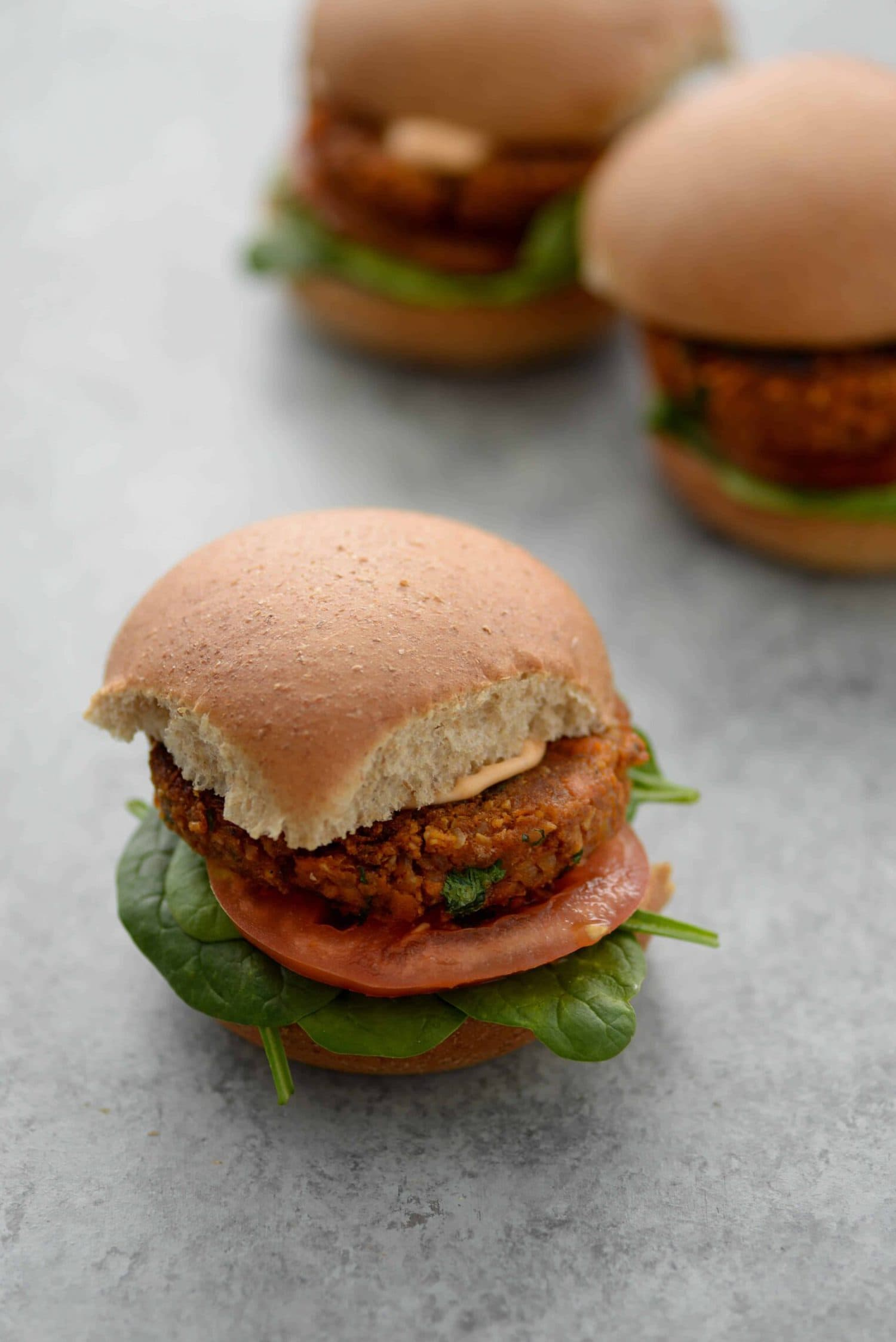sweet potato and black bean burger patty