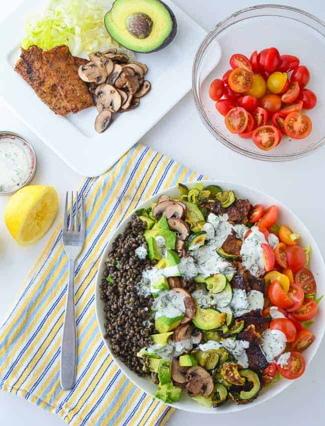 The great big vegan cobb salad! 20g of protein per serving